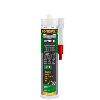KUDO герметик  DoneWell силикон санитар белый DSK121 (260мл/12)