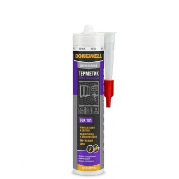 KUDO герметик  DoneWell силикон универ. белый DSK101 (260мл/12)
