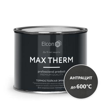 Термостойкая антикоррозионная эмаль Elcon (600) антрацит 0,4 кг/24